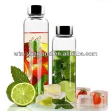 Agua potable embotellada de vidrio de borosilicato resistente al calor sellada 1000ML