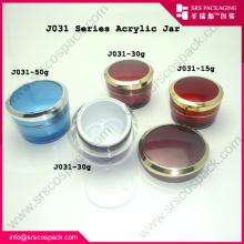 Luxo 15ml 30ml 50ml moda acrílico vazio frascos cosméticos
