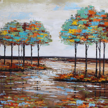 Abstract Oil Painting for Trees