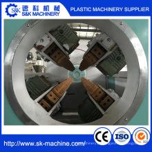 Linha de produção plástica da tubulação do PVC da qualidade / máquina da extrusora