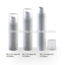 15ml / 30ml / 50ml bouteille cosmétique sans air, bouteille ronde en plastique sans air, emballage cosmétique