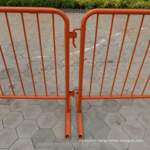 Powder Coated Yellow Color Crowd Stopper Steel Barricade
