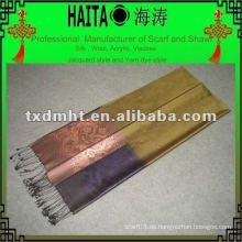 Mantón tejido 100% natural de la bufanda de la mano