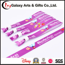 Custom Logo Sublimation Printed Cloth Fabric Satin Wrist Strap/Wristband
