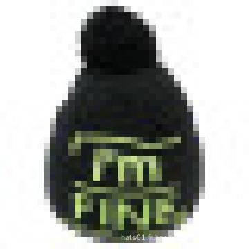 Bonnet tricoté avec tricoté dans le logo NTD38