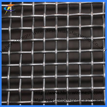 Black Steel Crimped Wire Mesh