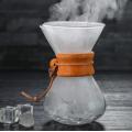 Cafetera de vidrio de borosilicato verter sobre cafetera