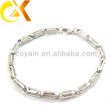 stainless steel jewelry silver bracelet China manufacturer
