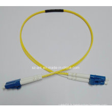Câble fibre optique avec connecteurs LC-LC monocomposant Simplex (0.6M)