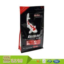 China Fábrica Personalizado Impressão Zipper Top De Plástico Folha De Alumínio Alinhado Embalagem Saco De Alimentação De Peixe