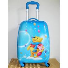 latest blue ABS trolley school bag