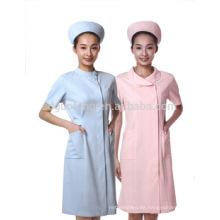 tela de poliéster y algodón para un nuevo uniforme de enfermera de estilo