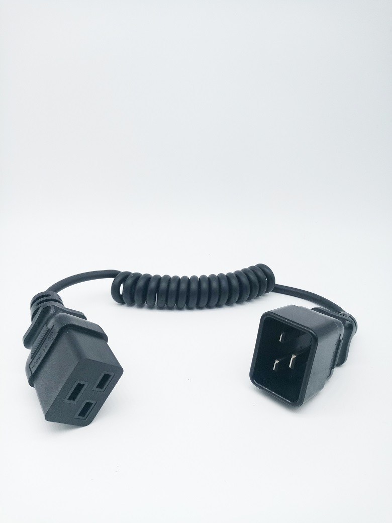 IEC 19 to IEC 20 extension power cord