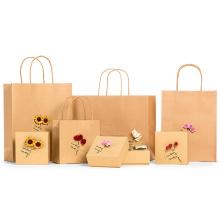 Nouveau sac de papier de Kraft fait sur commande de conception pour le cadeau