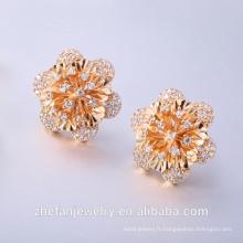 Boucles d'oreilles en or rose Boucles d'oreilles en gros et marchés traditionnels Bijoux en plaqué rhodium est votre choix