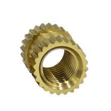 brass knurled thread insert nut