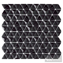 Настенная плитка из черного стекла 3D