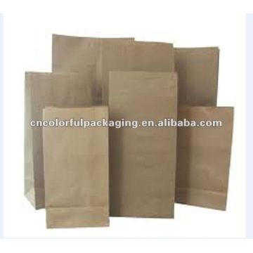 Sacos de empacotamento de café de papel kraft stand-up claro