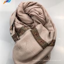 Élégant foulard carré d'automne en soie et polyester imprimé musulman