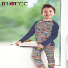 Miorre OEM Wholesale %100 Cotton Kids Boy Funny Car Print Sleepwear Pajamas Set