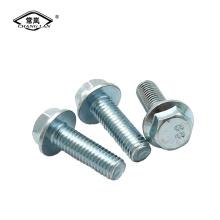 DIN6921 flange bolt black zinc plated