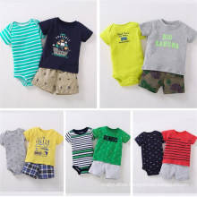 3-Pieces T-Shirt Pant Baby Romper Set Printed Cute Pattern Cosy Cotton Fabric Baby Clothing Set