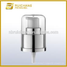 Pompe à lotions en plastique uv / pompe à crème 24mm / distributeur de pompe avec surcharge AS