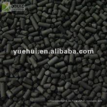 5,0 mm Zylindrische Aktivkohle auf Kohlebasis für Entschwefelung und Denitrifikation ZL50