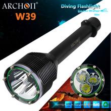 Profesional de buceo linternas LED, buceo militar linterna W39 (CE, RoHS)