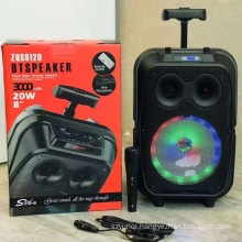 ZQS8120 8 Inch Bt Portable Wireless Strong Bass Professional Speaker With Led Light