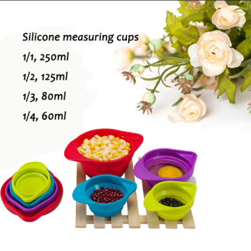 Modern Custom Collapsible Silikon Messbecher Set