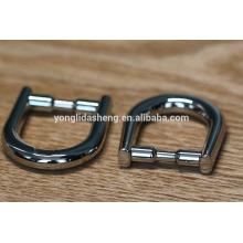 Forma de moda del anillo del metal D de la aleación del cinc para las guarniciones del bolso