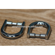 Fashionable Zinc alloy Metal D ring shape for handbag fittings
