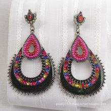Boucle d'oreille en diamant de style indien antique (XJW1652)