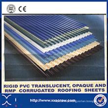 Máquinas de folha de telhado ondulado de PVC rígido