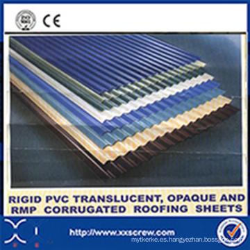 Máquina rígida de extrusión de láminas para techos de PVC corrugado