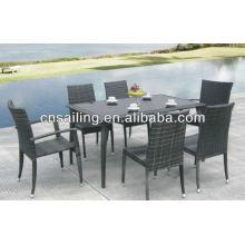 Вся погода Wicker Деревянная садовая мебель высокого качества Мебель для столовой