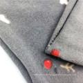 Tecidos de lã polar infantil impressos em spandex de poliéster 75D