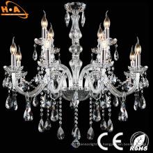 Lampe à suspension LED de style européen Lampe à lustre en cristal