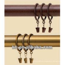 Anéis de clip de haste de cortina, anéis de cortina clipes de ganchos