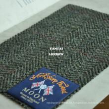 Tela de tweed de espina de pescado británica duradera y resistente a la humedad