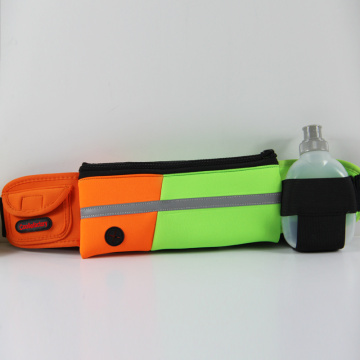 High quality sports running belt with water bottle