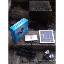 Solar LED Lighting Kits System with Aluminum LED Lamp Light