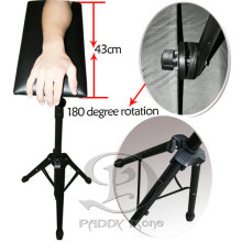 Triangular-tripod Tattoo Arm Rest Stand Black Portable Tattoo Armrest Strong Steel
