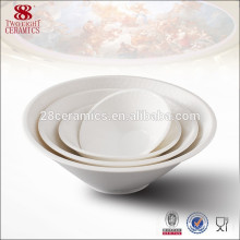 China vajilla llana cuencos de cerámica al por mayor ensaladera para llevar