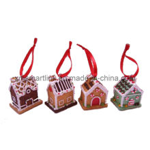 Décoration de souvenir suspendue à la maison de pain d'épices, cadeau suspendu de Noël