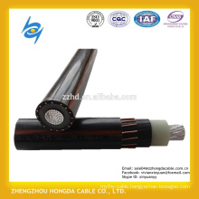 600/1000V single core aluminum conductor XLPE insulated concentric neutral cable