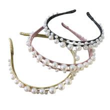 Bandeau fascia per capelli Pearl Slim Headband Luxury Hair Accessories Korean Baroque Wedding Bride Hairband Vintage For Women