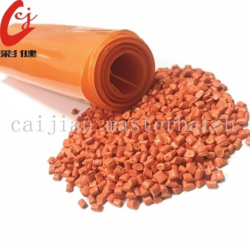 Light Orange Blowing Film Masterbatch Granule
