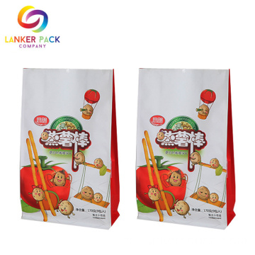 BRC Snack Food Flat Bottom Zipper Bolsas de embalaje
